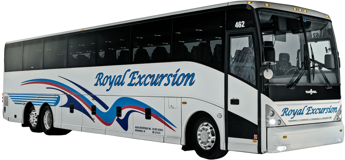 Deluxe Motorcoach   56 Passenger Charter Bus   Royal Excursion