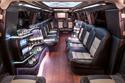 White lights - interior of stretch Denali limousine