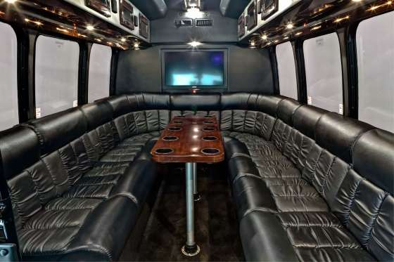 12 Passenger Luxury Party Bus Interior